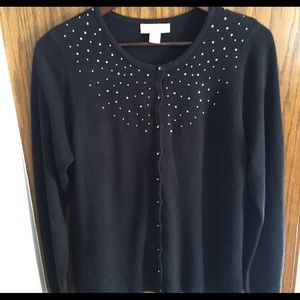 Christopher & Banks black sweater, size Medium